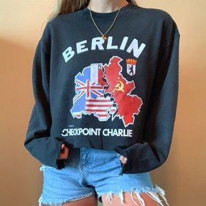 Vintage Distressed Berlin Crewneck Sweatshirt